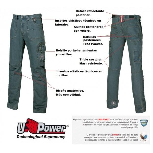 Pantalón multibolsillos U-POWER modelo TRAFFIC